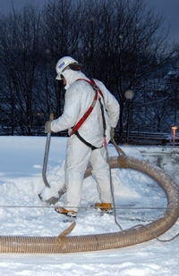 Vacuum snow removal